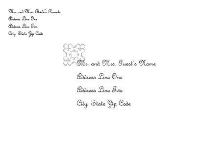 Envelope-template-word-2007- Wedding Invitation Envelope (juliet Design)
