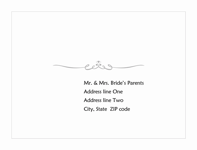 download wedding response card envelope heart scroll design a2 size free envelope templates. Black Bedroom Furniture Sets. Home Design Ideas