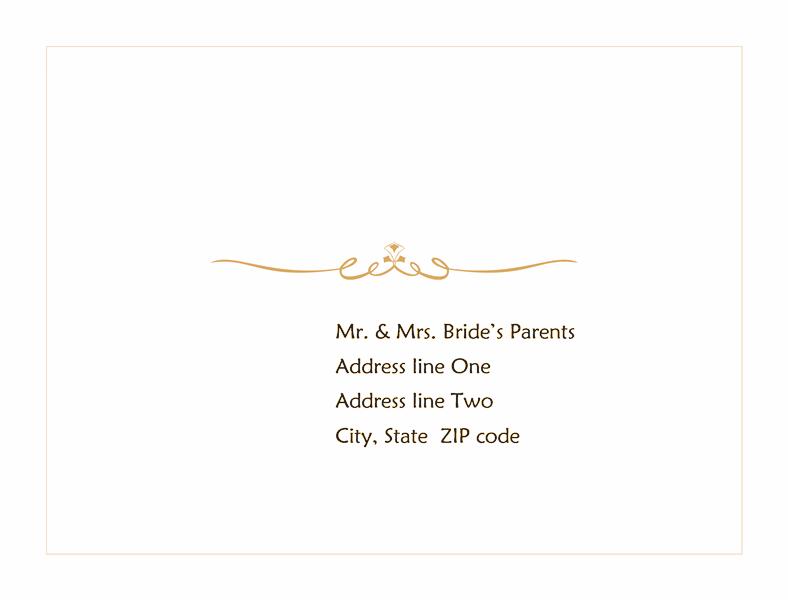 Envelope-template-word-2010- Wedding Response Envelope (heart Scroll Design)